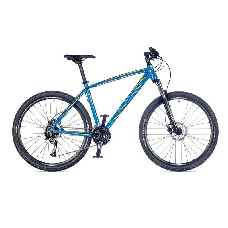 """Pegas férfi MTB 27,5"""" kerékpár, kék/borostyán/fekete - AUTHOR"""