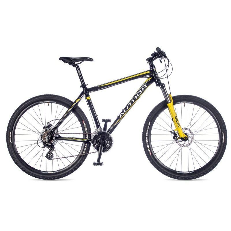"""Rival férfi MTB 27,5"""" kerékpár, fekete/borostyán - AUTHOR"""