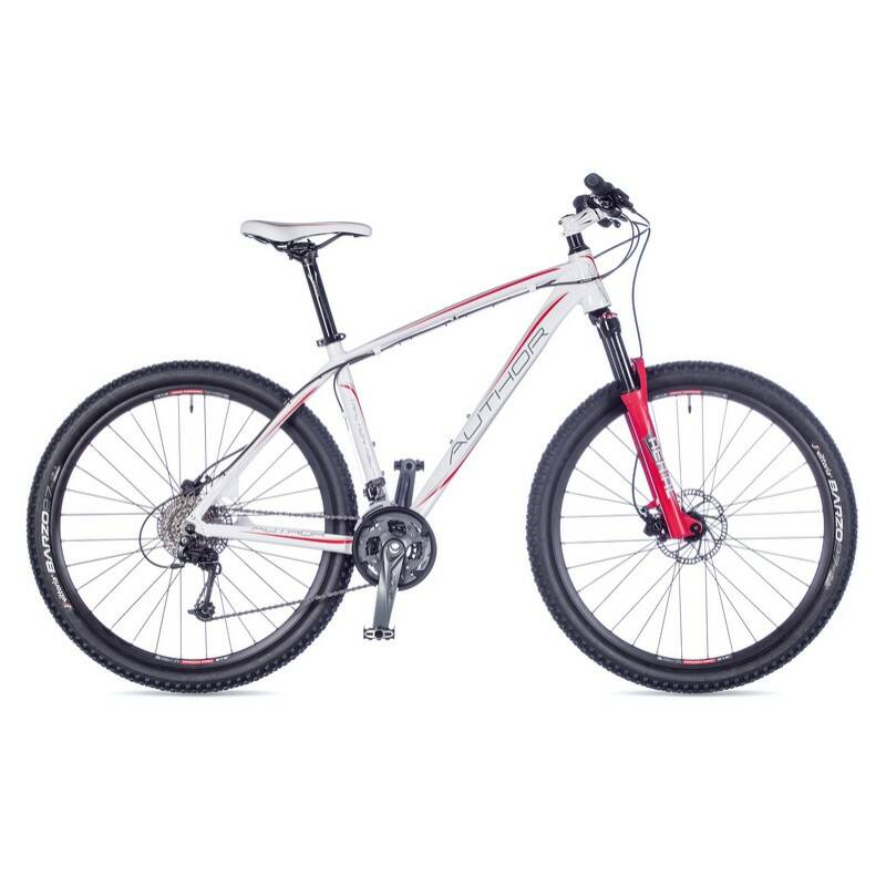 """Traction ASL női MTB 27,5"""" kerékpár, fehér/piros - AUTHOR"""