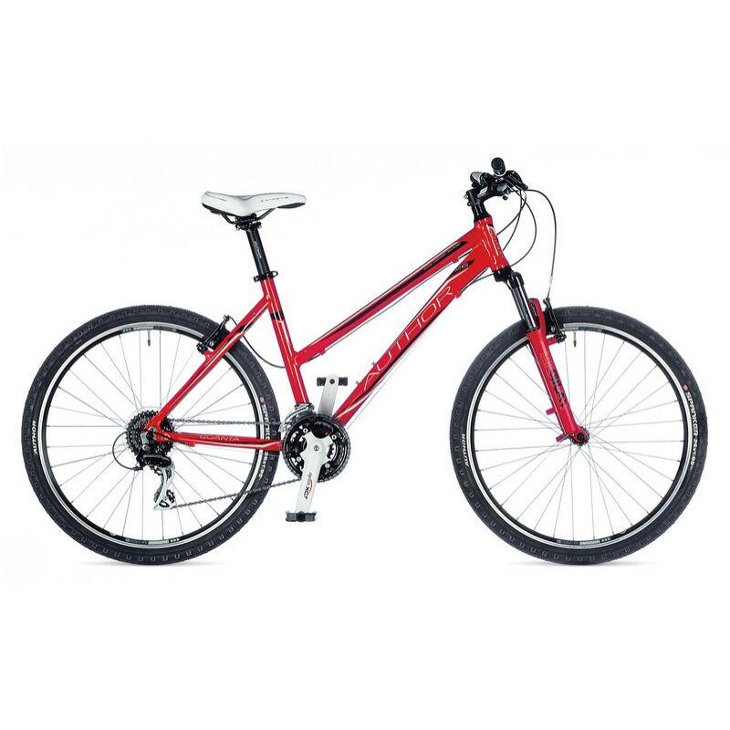 """Quanta női MTB 26"""" kerékpár, piros / fehér / fekete - AUTHOR"""