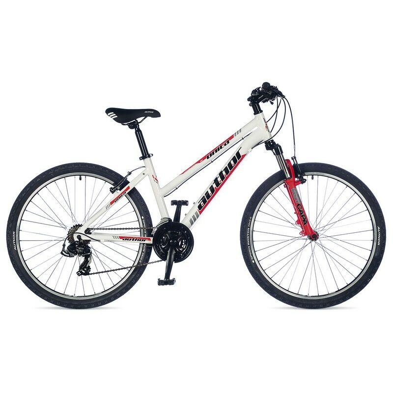 """Unica női 26"""" MTB kerékpár, fehér/piros - AUTHOR"""