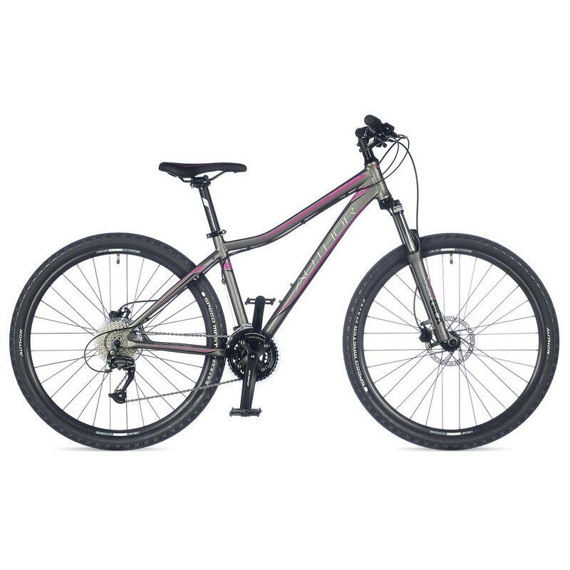 """Solution ASL női 27"""" MTB kerékpár, matt ezüst/rózsaszín - AUTHOR"""