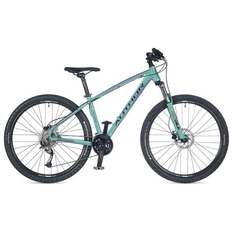 """Pegas ASL női 27"""" MTB kerékpár, zöld/lila - AUTHOR"""