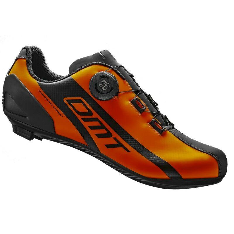 R5 országúti kerékpáros cipő, fluorit narancs/fekete - DMT