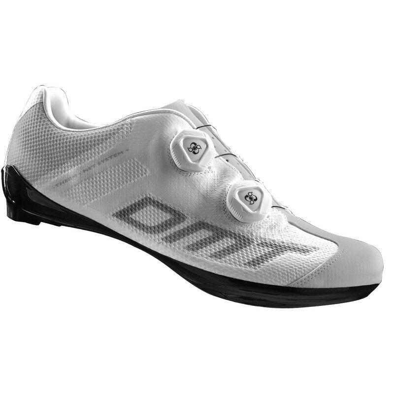 R1 SPD országúti kerékpáros cipő nyári, fehér/szürke - DMT