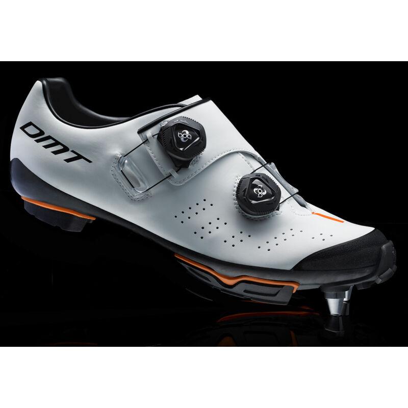 DM1 MTB kerékpáros cipő, fehér/fekete/narancs - DMT