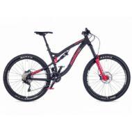 "Patriot Evo FSX 27,5"" kerékpár, matt fekete/piros - AUTHOR"