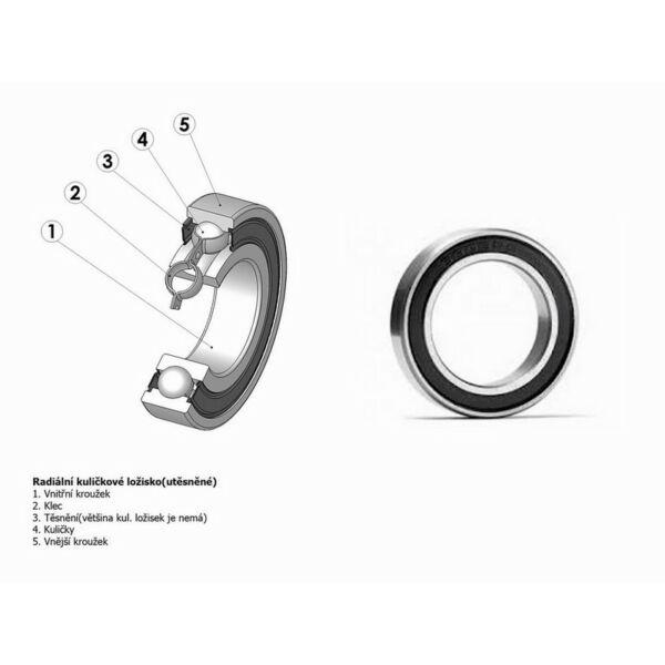 Csapágy 6802 2RS (HELIUM R/10 mm os agyhoz) - AUTHOR