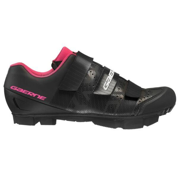 Laser női MTB cipő, fekete/fuxia - Gaerne