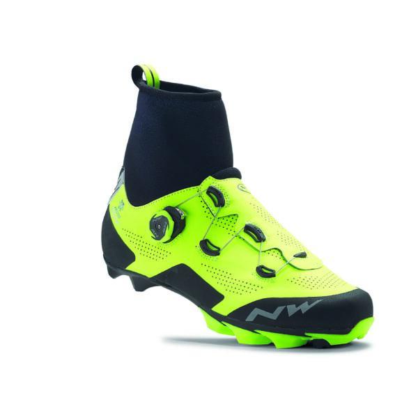 Cipő MTB RAPTOR ARCTIC GTX 44,5 téli, fluo sárga-fekete - NORTHWAVE