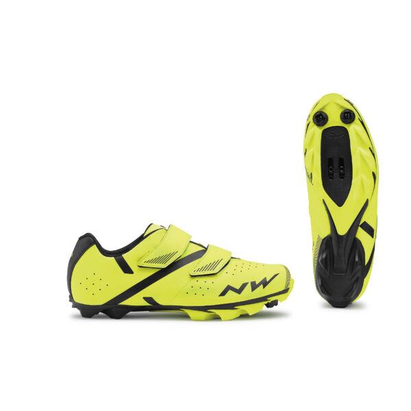 Cipő MTB SPIKE 2 47 fluo sárga-fekete - NORTHWAVE