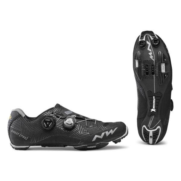 Cipő MTB GHOST PRO 43,5 fekete - NORTHWAVE