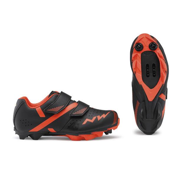 Cipő MTB HAMMER 2 JUNIOR 36 fekete/piros - NORTHWAVE