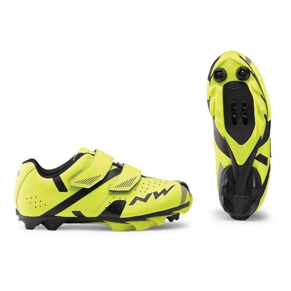 Cipő MTB HAMMER 2 JUNIOR 35 fluo sárga-fekete - NORTHWAVE