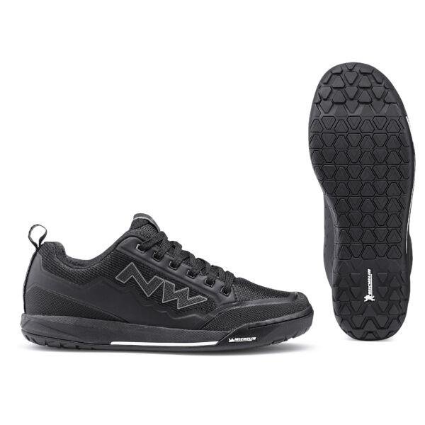 Cipő FLAT CLAN 46 fekete taposó pedálhoz - NORTHWAVE