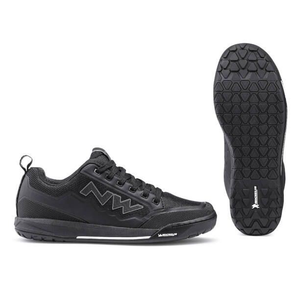 Cipő FLAT CLAN fekete taposó pedálhoz - NORTHWAVE
