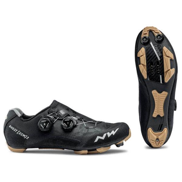Cipő MTB GHOST XCM 2 45,5 fekete/méz - NORTHWAVE