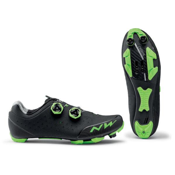 Cipő MTB REBEL 2 46 fekete/zöld - NORTHWAVE