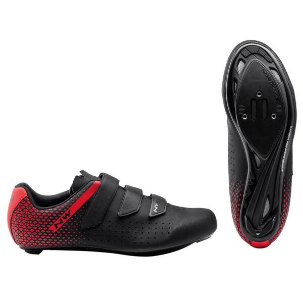 Cipő ROAD CORE 2 3S 42 fekete/piros - NORTHWAVE