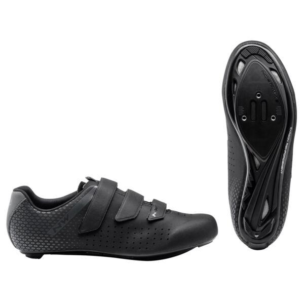 Cipő ROAD CORE 2 3S 42 fekete/antracit - NORTHWAVE