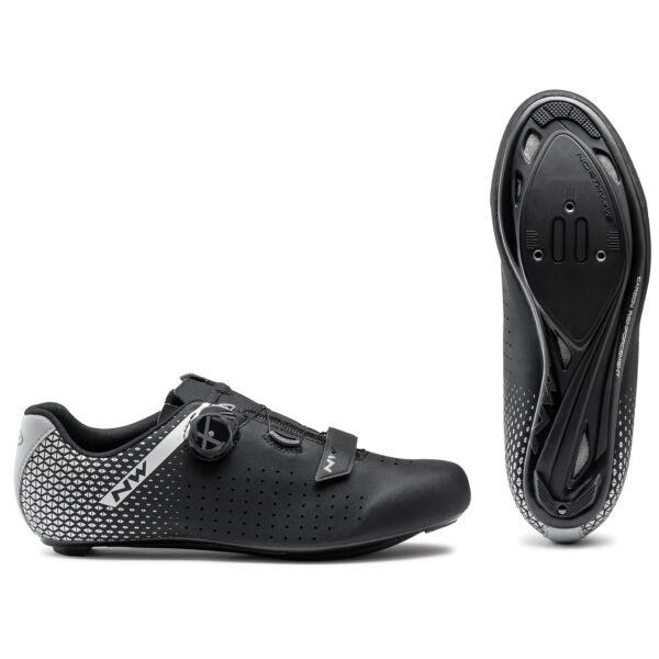 Cipő ROAD CORE PLUS 2 W 43,5 WIDE szélesített verzió, fekete - NORTHWAVE