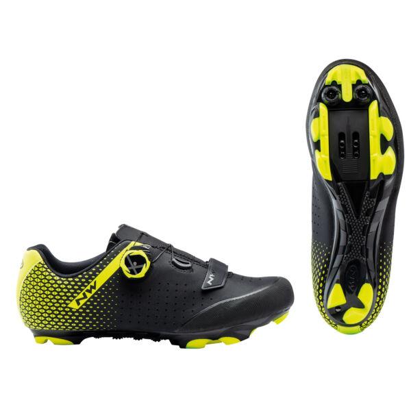 Cipő MTB ORIGIN PLUS 2 45 fekete/fluo sárga - NORTHWAVE