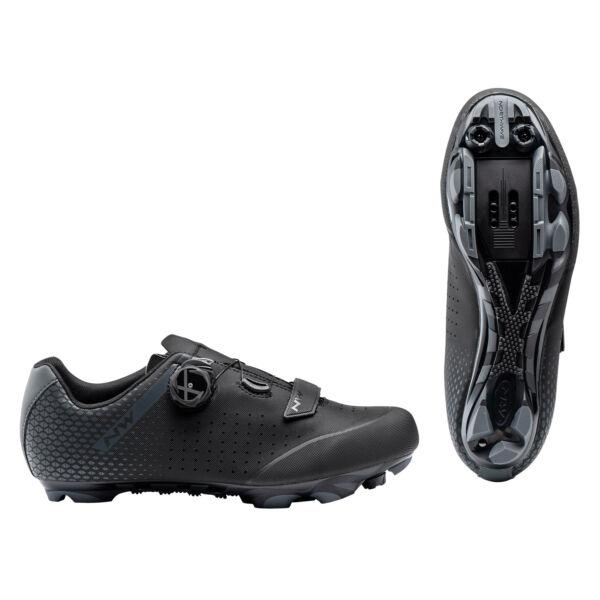 Cipő MTB ORIGIN PLUS 2 WIDE 43,5 szélesített, fekete/antracit - NORTHWAVE