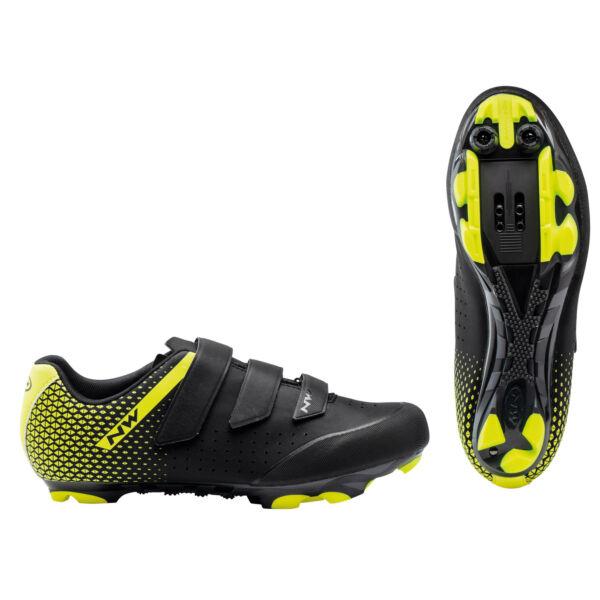 Cipő MTB ORIGIN 2 39,5 fekete/fluo sárga - NORTHWAVE