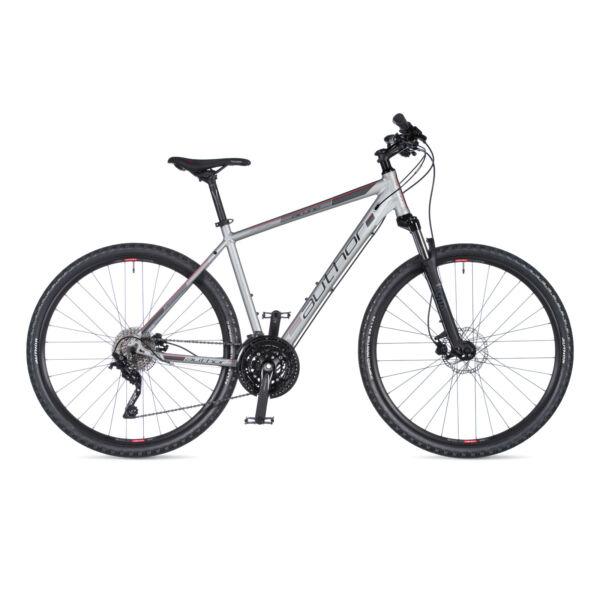 Airline férfi CROSS kerékpár, matt ezüst / matt fekete - AUTHOR