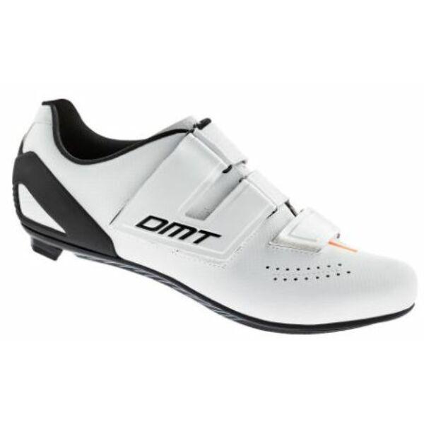 Cipő országúti D6 fehér 45 - tépőzáras - DMT