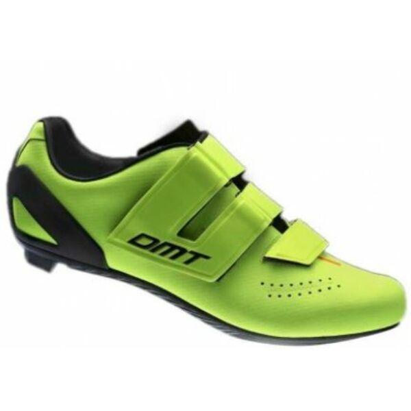 Cipő országúti D6 fluo sárga 41 - tépőzáras - DMT